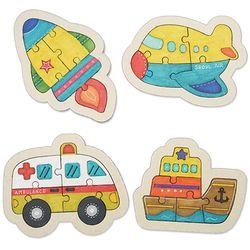 교통수단 색칠나무퍼즐(4개)