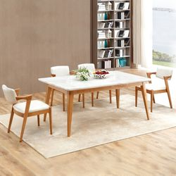 에시몬 대리석 주방 테이블 의자 4인 식탁세트