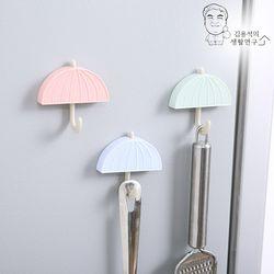 파스텔 우산후크 마스크걸이 주방걸이 다용도고리 훅