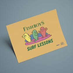 FISH BOYS 인테리어 포스터