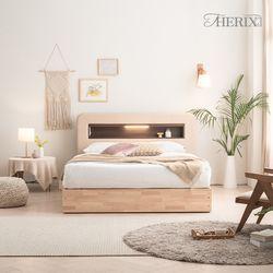 마르스 무드있는 LED조명 & 콘센트 침대 2colors 퀸(Q)