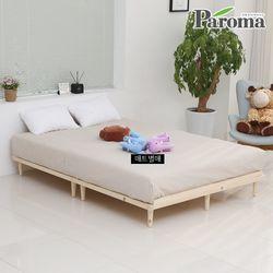 [파로마]네디안 원목 평상형 퀸 침대프레임 IK