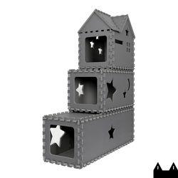스타캣 퍼즐 캣타워3단-루프형(터널2단 루프1단)다크그레이