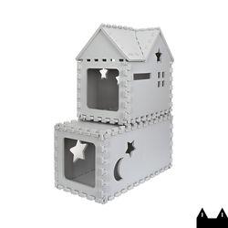 스타캣 퍼즐 캣타워2단 - 터널형 루프형라이트그레이