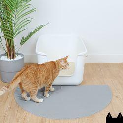 스타캣 디자인 고양이 모래매트 아치모양그레이대형