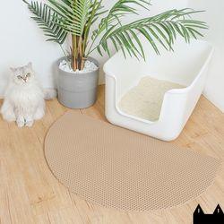 스타캣 디자인 고양이 모래매트 아치모양베이지대형