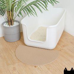 스타캣 디자인 고양이 모래매트 아치모양베이지소형