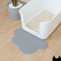 스타캣 디자인 고양이 모래매트 구름모양그레이소형