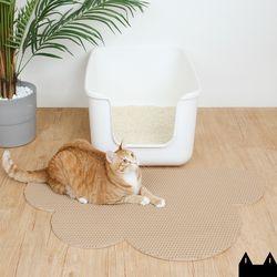 스타캣 디자인 고양이 모래매트 구름모양베이지대형