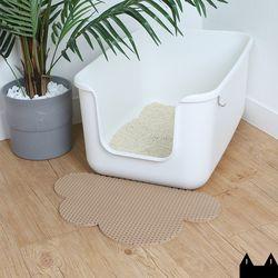스타캣 디자인 고양이 모래매트 구름모양베이지소형