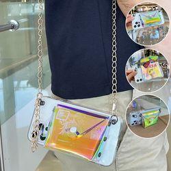 갤럭시S21 S20 노트20 홀로그램 지갑 목걸이줄 케이스