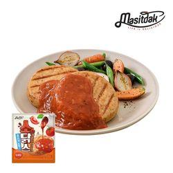 [무료배송] 소스 닭가슴살 스테이크 토마토 150gx10팩(1.5kg)
