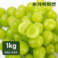[한정판매][가락마켓]미국산 씨없는 청포도 1kg