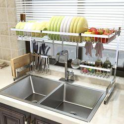 라이프공방 식기건조대 1단 2단 설거지 그릇 정리대