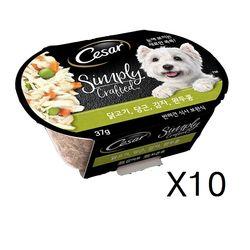 시저 심플리 크래프티드-10개 주식캔닭고기당근감자완두콩