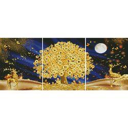 황금 나무 (3단세트)(캔버스형) 보석십자수 40x50