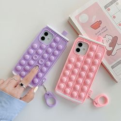 아이폰12 11 PRO MAX XS 8 캔 음료 팝잇 키링 케이스