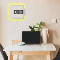 벽걸이 시계 무드등 LED 무소음 디지털 전자 조명시계 MR-04