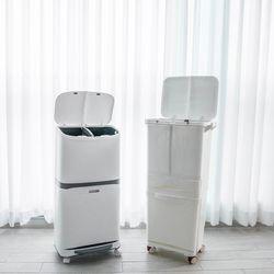 가정용 대용량 이동식 분리수거함 2단 3단 바퀴달린 쓰레기통