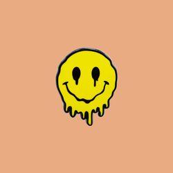 MELTING SMILEY 핀 뱃지