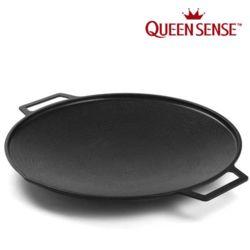 퀸센스 솥뚜껑 인덕션 캠핑 특대형 그리들팬 40cm