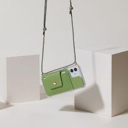 [갤럭시]Cross - Card Phone Case(가로형)(카드 지갑 폰케이스)