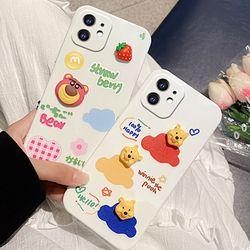 갤럭시 s21 s20 s10 곰돌이 입체 젤리 실리콘 케이스