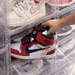 투명 슈케이스 신발진열대 보관함 정리대 중형 슈즈케이스