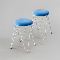 리코 인테리어 디자인 스툴 의자 2개세트 (착불)