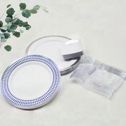 플라스틱 다회용접시 집들이 블루사파이어 60p 1세트