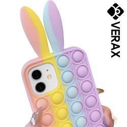 아이폰XS 레빗 뽁뽁이 푸쉬팝 실리콘 케이스 P614