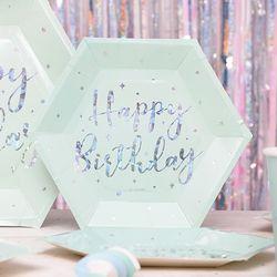 생일파티접시 트윙클민트 6입 25cm