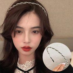 비엔 트위스트 진주 머리띠