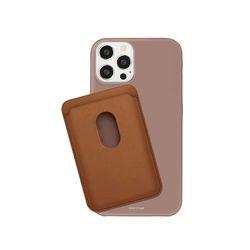 하드 무지 컬러 슬림 케이스+카드 지갑 세트 아이폰 갤럭시