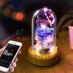유리돔 블루투스 스피커 LED 스피커 무드등스피커