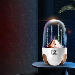 크리스탈 물 분수 스키퍼 블루투스 스피커 LED 조명 인테리어
