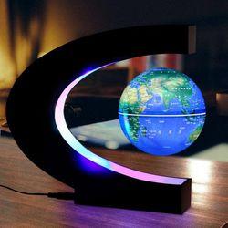 LED 공중부양 자기부상 무중력 지구본 무드등 3인치 영문