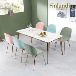 핀란디아 허브 6인 통세라믹 식탁세트(의자6)