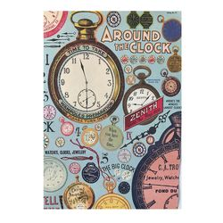 카발리니 일러스트 빈티지포스터 Clock
