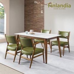 핀란디아 파코 4인 통세라믹 식탁세트(의자4)