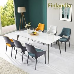 핀란디아 아스타 6인 통세라믹 식탁세트(의자6)