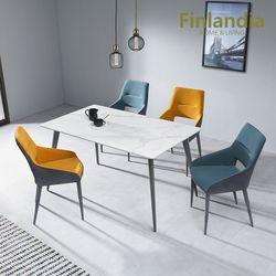 핀란디아 아스타 4인 통세라믹 식탁세트(의자4)