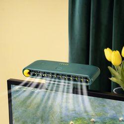 사무실 책상 노트북 모니터선풍기 탁상용 휴대폰거치대 선풍기