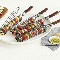 바베큐 꼬치 바스켓 그릴 바구니 캠핑 BBQ 요리용품