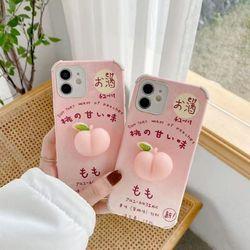 아이폰 말랑 복숭아 모찌복숭아 핸드폰 케이스