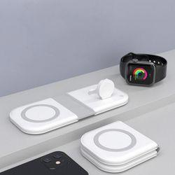 2in1 아이폰12 무선충전 맥세이프 애플워치 충전기