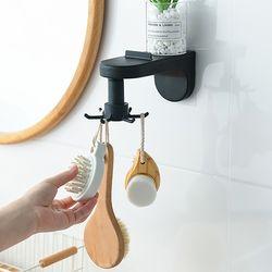 접착식 회전 벽걸이형 키친툴걸이 (색상선택) 1개
