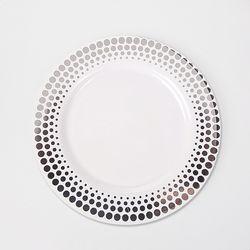 대량 고급 일회용 플라스틱 도트접시(대 소) 160P (8Px20set)