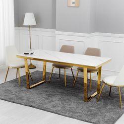 아티크 트와이즈 세라믹 골드 식탁테이블 1400