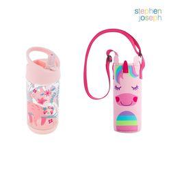어린이집 선물 세트(물병가방+빨대물병) - 나무늘보유니콘